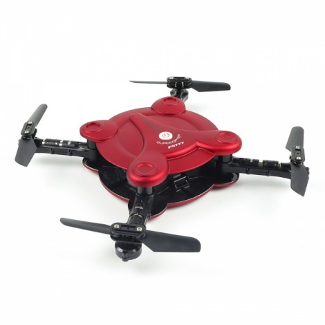 FQ777 FQ17W 2.4G 6 Axis Gyro Mini WiFi FPV 0.3MP Camera Drone Altitude Hold Foldable Pocket RC Quadcopter BNF Red
