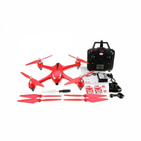 MJX B2W Bugs 2W 2.4GHz 4CH Two-way 5GHz WiFi FPV Brushless with 1080P HD Camera GPS RC Quadcopter RTF Red