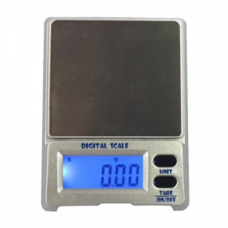 """DS-18 500g / 0.01g 1.5"""" LCD Precision Pocket Electronic Jewelry Scale Silver Gray"""