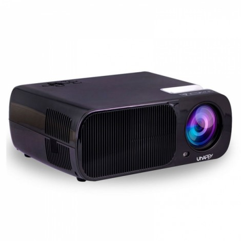 Uhappy U20 2600lm 1080P 800*480 2000:1 Home Theater Mini Projector with Remote Control (Support HDMI / YPbPr / TV  / DTV / AV / VGA) Black
