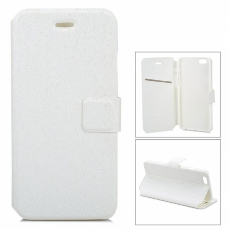 """Voltage Ripple Pattern Protective PU Flip-Open Case with Stand & Card Slot for 4.7"""" iPhone 8 White"""