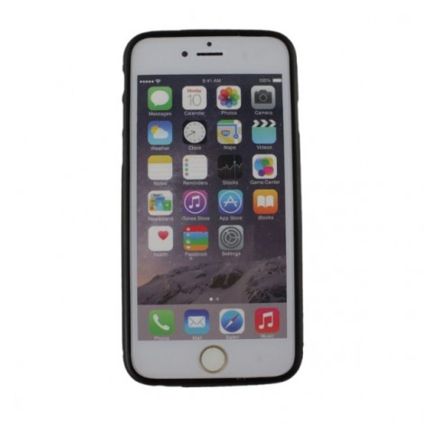 """Aluminum Alloy Protective Bumper Frame Case with Foldable Stand for 4.7"""" iPhone 6/6S Black"""