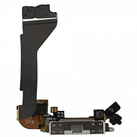 Replacement Part Charging Dock Port Connector Flex Cable for iPhone 4 White