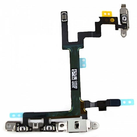 Replacement Part Power Button Volume Keys & Mute Switch Flex Cable for iPhone 5 Black