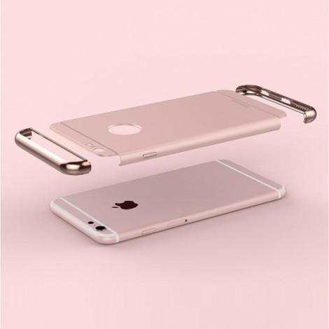 Joyroom Ultrathin Aluminum Alloy Bumper + Plastic Back Cover for iPhone 6 / 6S Rose Golden