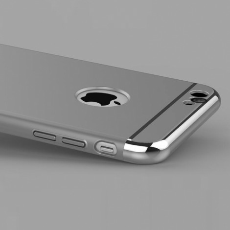 Joyroom Ultrathin Aluminum Alloy Bumper + Plastic Back Cover for iPhone 6 / 6S Silver