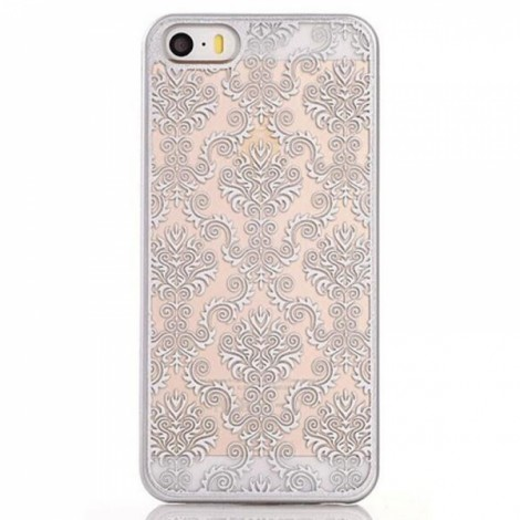 Matte PC Back Case Cover for iPhone 6/6S Silver?Retro Engraved Pattern?