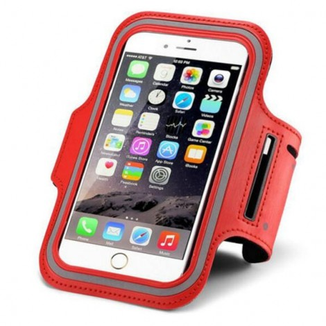 Waterproof Sports Cellphone Bag Arm Band Case for iPhone6/6S Plus Red