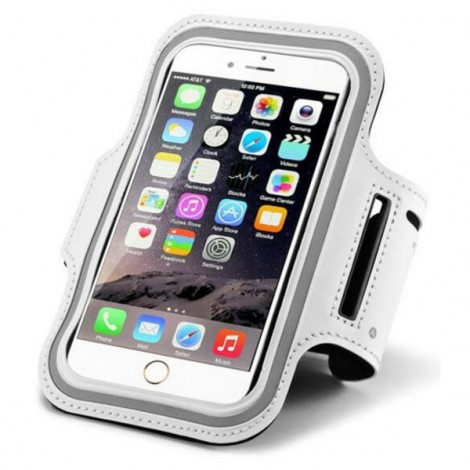Waterproof Sports Cellphone Bag Arm Band Case for iPhone6/6S Plus White