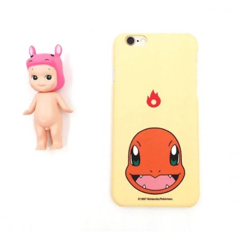 "Cute Cartoon Pokemon Series Charmander Pattern Back Case Cover for iPhone 6/6S 4.7"" Beige"