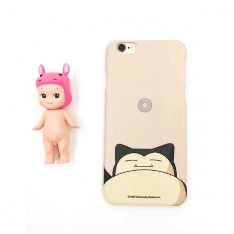 """Cute Cartoon Pokemon Series Snorlax Pattern Back Case Cover for iPhone 6/6S 4.7"""" Cream-colored"""
