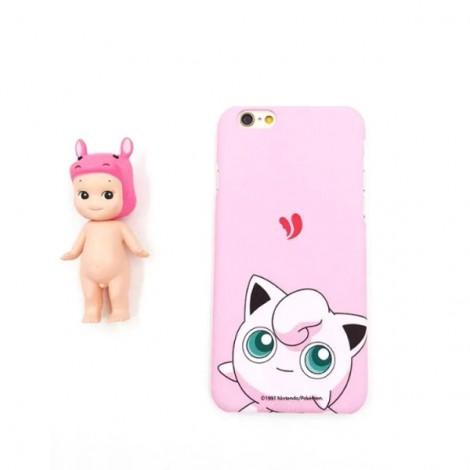 "Cute Cartoon Pokemon Series Jigglypuff Pattern Back Case Cover for iPhone 6/6S 4.7"" Pink"