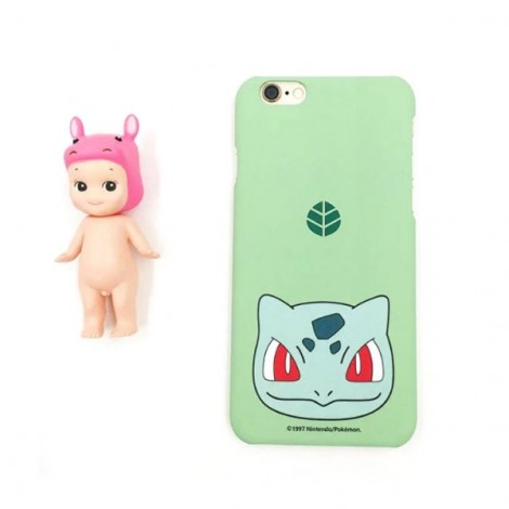 "Cute Cartoon Pokemon Series Bulbasaur Pattern Back Case Cover for iPhone 6/6S 4.7"" Light Green"