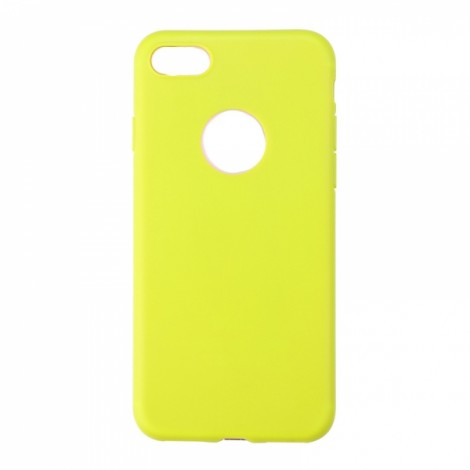 Candy Color Soft TPU Silicone Ultra Light Slim Case for iPhone 6/6S Yellow