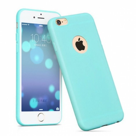 Candy Color Soft TPU Silicone Ultra Light Slim Case for iPhone 6/6S Blue