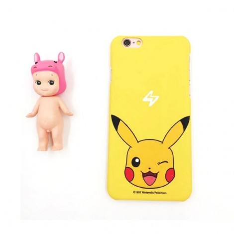 """Cute Cartoon Pokemon Series Pikachu Pattern Back Case Cover for iPhone 6/6S 4.7"""" Yellow"""