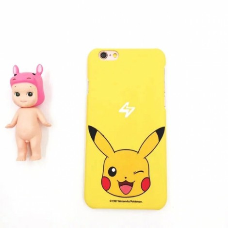 """Cute Cartoon Pokemon Series Pikachu Pattern Back Case Cover for iPhone 6/6S Plus 5.5"""" Yellow"""