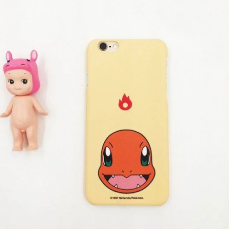 """Cute Cartoon Pokemon Series Charmander Pattern Back Case Cover for iPhone 6/6S Plus 5.5"""" Beige"""