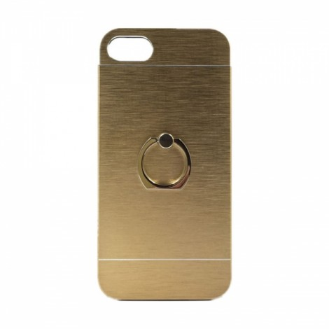 Ultra Thin Finger Ring Stand Holder Aluminum Case Cover for iPhone7 Golden