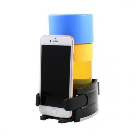 Plastic Car Beverage Holder Phone Bracket Black