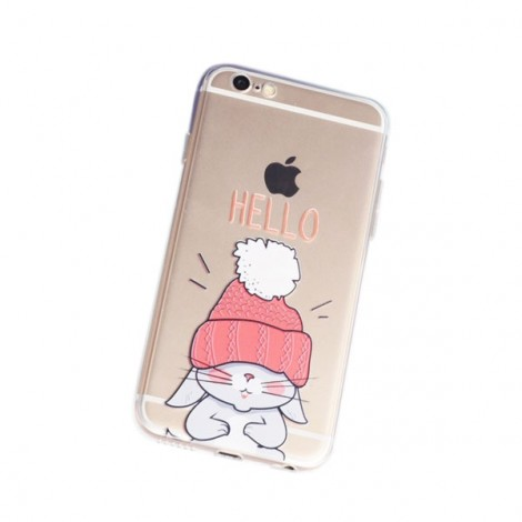 Frosted TPU Embossment Protective Back Case for iPhone7