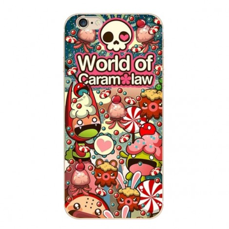 """Slim Soft TPU Skeleton Colorful Protective Back Case Cover for 4.7"""" Apple iPhone 7 1#"""