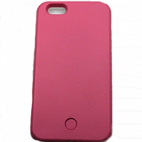 Self-timer LED Luminous Selfie Phone Case for iPhone 7 Rose Red