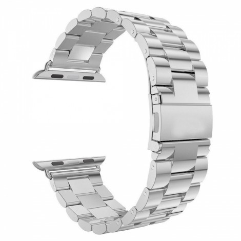 Stainless Steel Watchband with Connector for Apple iWatch Sports Edition 42mm Silver