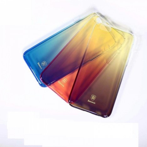 Baseus Ultra-thin Clear Gradient Color Hard PC Back Cover Phone Case for iPhone 7 Plus Blue