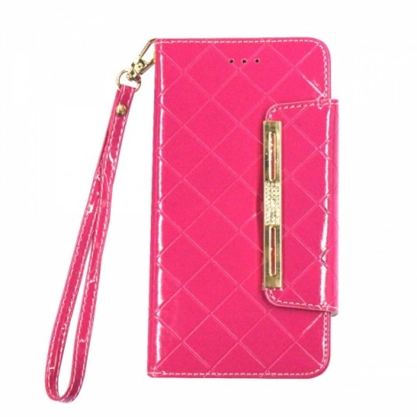 Purse Type Flip Cover PU Leather Phone Case for iPhone 6/6S Rose Red