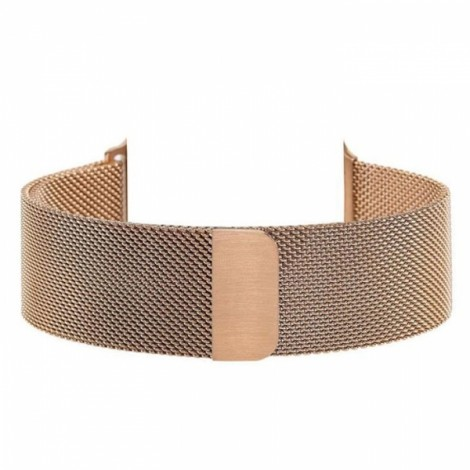 Milanese Magnetic Loop Stainless Steel Strap Watch Band for Apple Watch 42mm Rose Golden