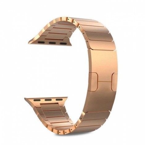 Link Bracelet 361L Stainless Steel Watch Band for Apple Watch 38mm Rose Golden