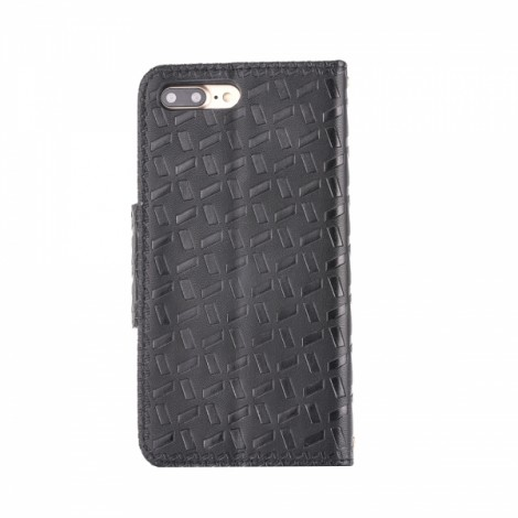 Embossed with a Butterfly Buckle Combo Holster Leather Case for iPhone 6 / iPhone 6S Black