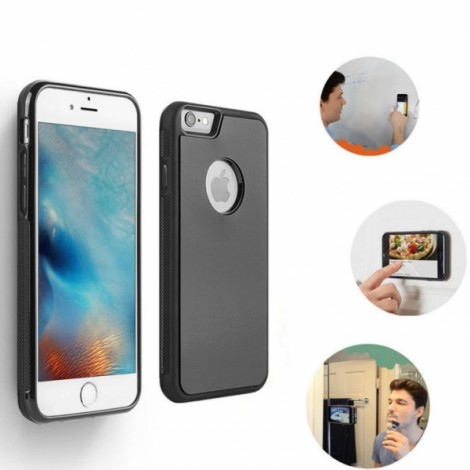 Anti-Gravity Magic Selfie Sticky Nano Protective Shockproof Case for iPhone7-Black