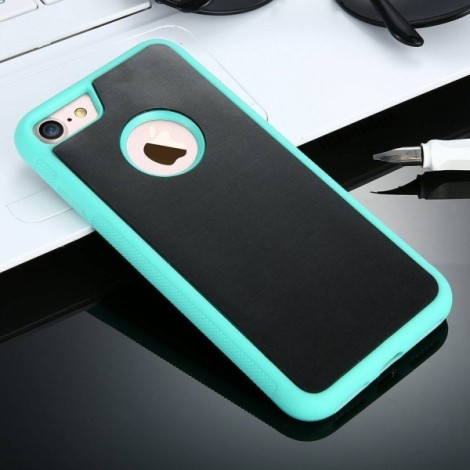 Anti-gravity Magic Nanometer Adsorb Case Cover for iPhone 6/6s 4.7 Inch - Green