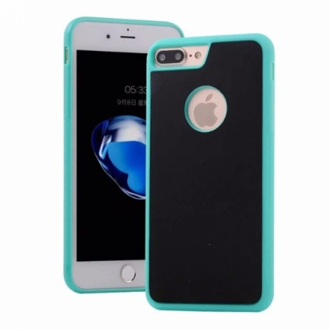Anti-Gravity Magic Selfie Sticky Nano Protective Shockproof Case for iPhone 7 Plus - Green