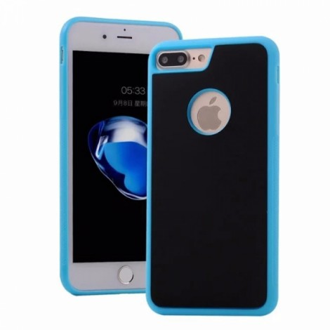 Anti-Gravity Magic Selfie Sticky Nano Protective Shockproof Case for iPhone 7 Plus - Blue