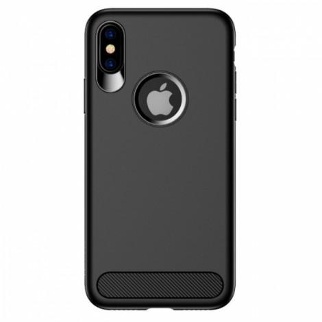 USAMS Anti-fingerprint Soft TPU Muze Matte Case for iPhone X  - Black
