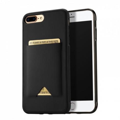 DUX DUCIS Double PU + TPU Durable Back Cover Case for iPhone 8/7 Plus - Black