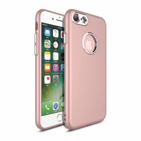 Metallic paint buttons TPU Soft Phone Case for iPhone 7/8- Rose Golden