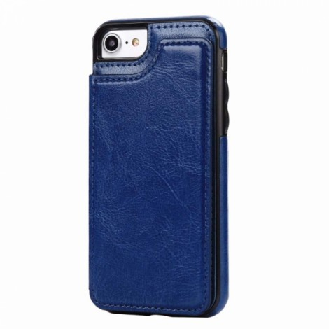 Magnetic Wallet Case with Card Slots for iPhone 7 Plus/8 Plus - Blue