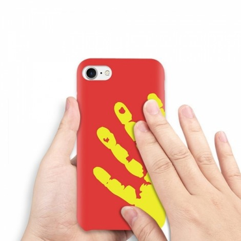 Heat Sensitive Case for iPhone 6/6S Soft TPU Case Cover HOT Discoloration Changed Color - Red