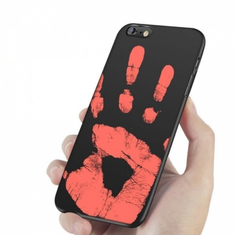 Heat Sensitive Case for iPhone 5/5S/SE Soft TPU Case Cover HOT Discoloration Changed Color - Black