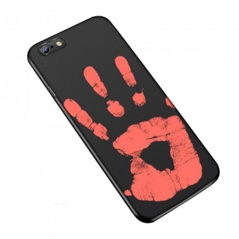 Heat Sensitive Case for iPhone 6 Plus/6S Plus Soft TPU Case Cover HOT Discoloration Changed Color - Black