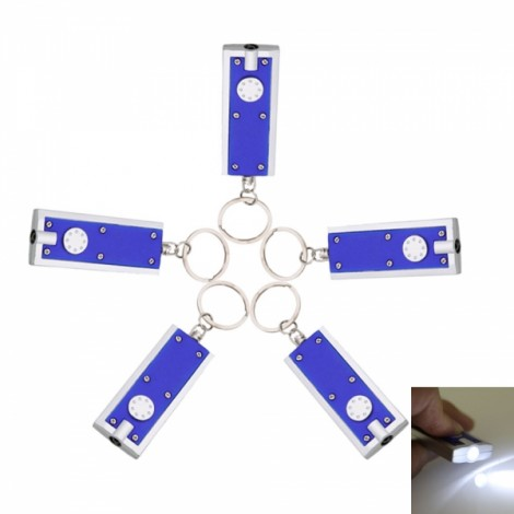 5Pcs LED Flashlight Torch Keychain for Camping