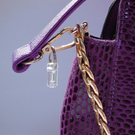 5 x 20mm Trit Vials Tritium Waterproof Self-luminous Purple Light Keychain Silver & Transparent S
