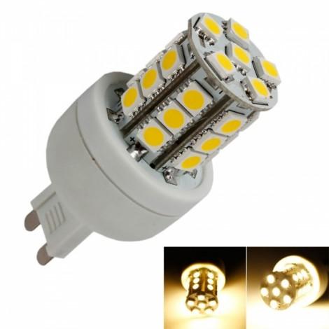 G9 4W 27 LED 2800-3000K Warm White LED Corn Light Bulb (110V)