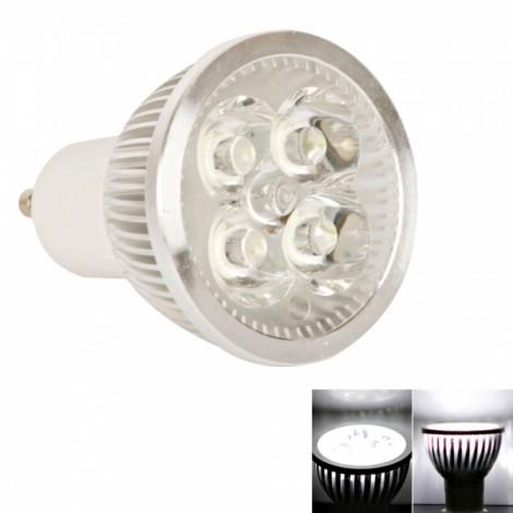 GU10 4W 90 Lumen 5000k Pure White Light LED Spotlight Bulb (85-265V)