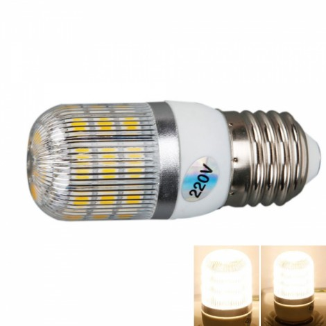 E27 5W 400 Lumen 3000K Warm White Light Corn Light with Silver Side Stripes Cover (220V)