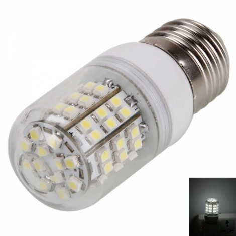 E27 3.6W 60LED 240LM 6000K White Light Corn Light with Transparent Cover (200-240V)